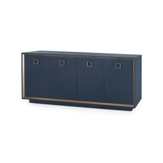 Picture of ANSEL 4-DOOR CABINET, NAVY BLUE