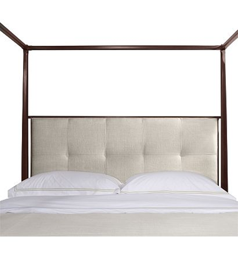 Picture of ARTISAN POSTER BED - ASH - CALIFORNIA KING WITH LOW BISCUIT-STITCHED UPH. HEADBOARD
